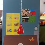En het tafelblad, is van schoolbordverf; dus schrijven maar!